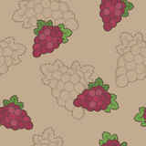 Grapes graphic seamless pattern beige pink green illustration Royalty Free Stock Image