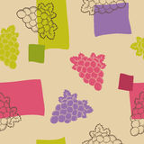 Grapes graphic seamless pattern violet pink green illustration Royalty Free Stock Photo