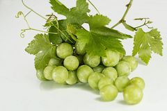 Grapes, Green, Fruit, Fresh, Bunch Stock Photography