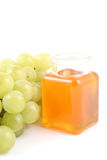 Grapes and honey Royalty Free Stock Images
