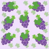 Grapes. Illustration of some violet grapes Stock Images