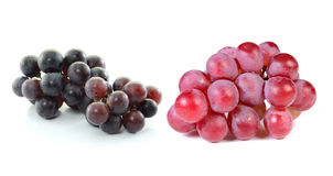 Grapes isolated on over white background. Red grapes isolated on over white background Royalty Free Stock Photos
