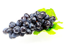 Grapes isolated on white background.  Stock Photos