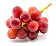 Grapes isolated on white background with clipping path stock image