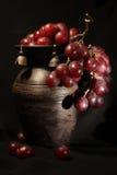 Grapes and jug Royalty Free Stock Photo