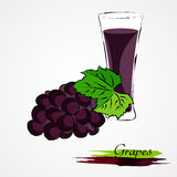 Grapes juice Royalty Free Stock Photography