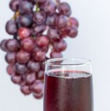 Grapes And Juice Represents Organic Products And Beverage Stock Photography