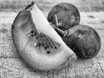 Grapes and kiwi fruit Royalty Free Stock Photo