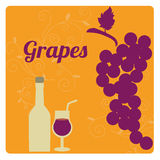 Grapes label Royalty Free Stock Photography