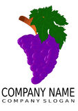 Grapes - logo Stock Photo