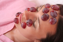 Grapes mask Royalty Free Stock Image