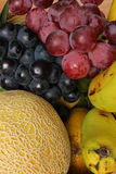 Grapes Melons and Bananas Royalty Free Stock Image