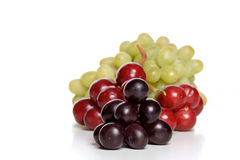 Grapes mix. Grapes on white background - close up Stock Photos