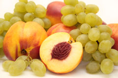 Grapes and nectarines royalty free stock images