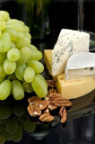 Grapes, nuts and cheese Royalty Free Stock Image