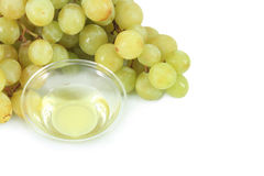 Grapes and oil Royalty Free Stock Images