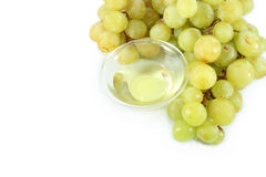 Grapes and oil Stock Photo
