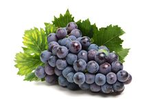 Grapes On White Background Stock Images