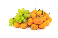 Grapes and Orange fruits Stock Images