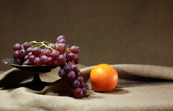 Grapes And Orange Royalty Free Stock Photo