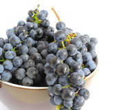 Grapes over white Stock Photography