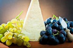 Grapes and Parmesan cheese Royalty Free Stock Photo