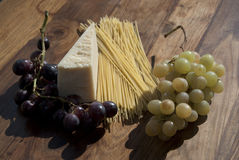 Grapes and parmigiano Royalty Free Stock Photos