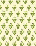 Grapes pattern background. Green grapes pattern over cream color background Stock Photography