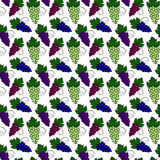 Grapes pattern Royalty Free Stock Images