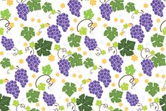 Grapes patterns backgrounds seamless. S Stock Image