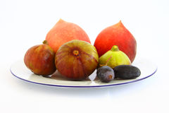 Grapes peach figs Royalty Free Stock Image