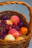 Grapes, peach, plums, cherry, harvest Stock Photo
