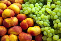 Grapes and Peaches Royalty Free Stock Images