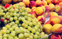 Grapes and peachs Stock Photography