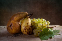 Grapes and Pears Stock Images
