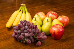 Grapes Pears Apples and Bananas Royalty Free Stock Images
