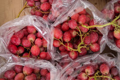 Grapes in plastic bag. Royalty Free Stock Images