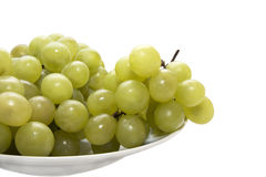 Grapes on plate Stock Photography