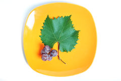 Grapes on plate Stock Photo