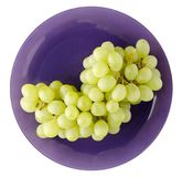 Grapes on a plate. Grapes isolated on white n. grapes on a plate royalty free stock images