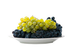 Grapes plate Royalty Free Stock Photography
