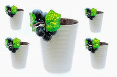 Grapes put on the cup Royalty Free Stock Image