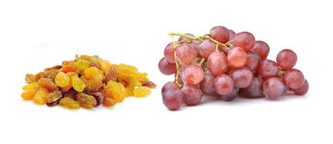 Grapes with raisins Royalty Free Stock Photos
