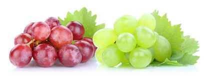 Grapes red green fresh fruits fruit Royalty Free Stock Image