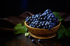 Grapes. Ripe grapes on a dark background Royalty Free Stock Photos