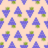 Grapes seamless pattern, grapes. On beige background Royalty Free Stock Image