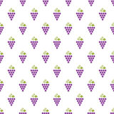 Grapes Seamless Pattern Royalty Free Stock Photos