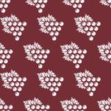 Grapes seamless pattern Stock Photo