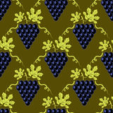 Grapes Seamless Pattern Royalty Free Stock Image