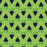Grapes Seamless Pattern Stock Photography